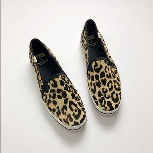 NWOT Keds x Kate Spade Leopard Slip Ons
